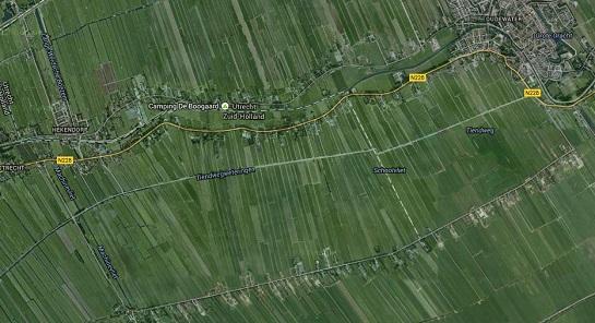 Het gebied waar, op grond van seismisch onderzoek, de aanwezigheid van aardgas wordt vermoed.