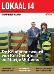 Cover van ons verkiezingsmagazine 'Lokaal 14'