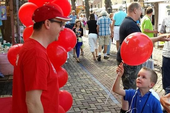 Onze ballonnen waren erg populair bij kinderen.