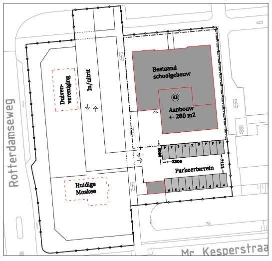 situatieschets moskee